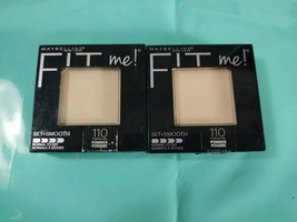 (2) Maybelline Fit Me! Set + Smooth Normal to Dry, 110 Porcelain - $8.10