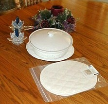 Longaberger Large Trivet 2 Hot Pads Tea Tray Pads Use for Pottery Or Bas... - $22.95