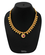 Womens Trendz Golden Mani Thushi 24K Gold Plated Alloy Necklace - $40.00