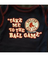 "Boston Red Sox Baby 0-3mo Creeper One-Piece ""Take Me To Ball Game"" MLB B... - $4.99"