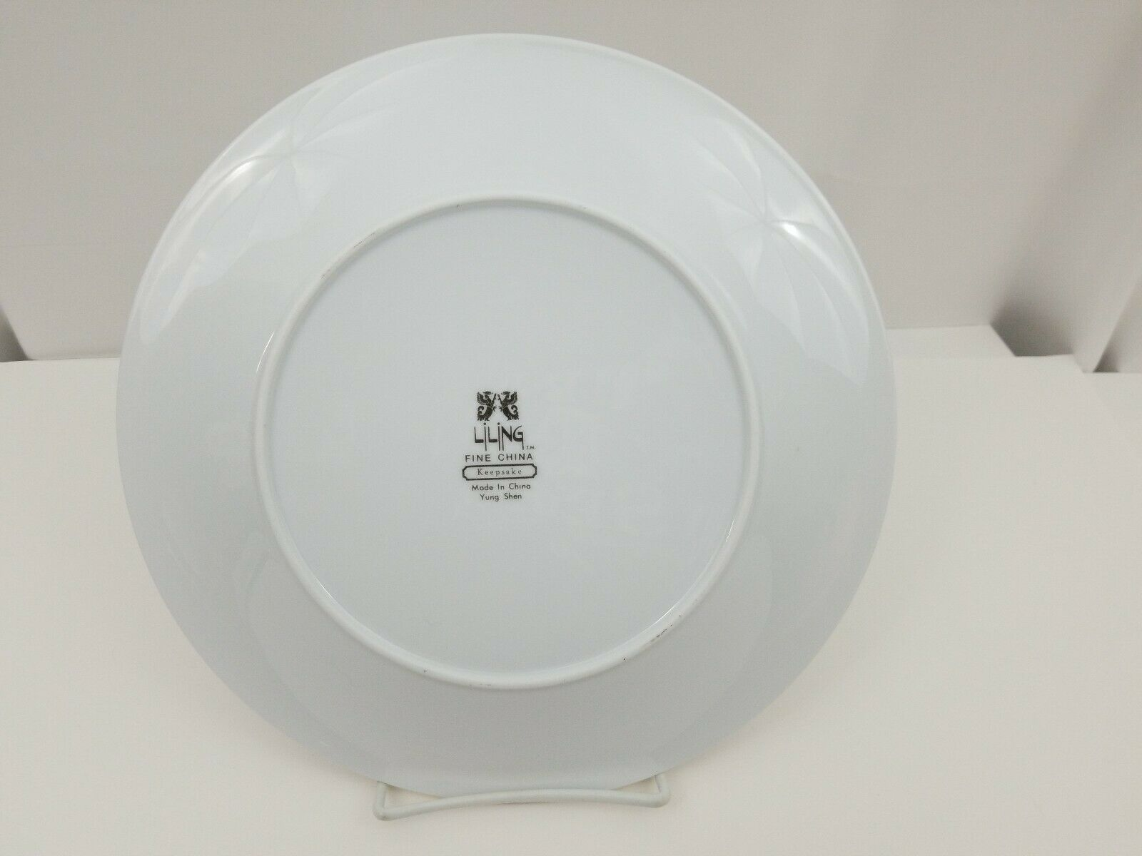 "Liling Fine China Dinner Plates Set of 4 Yung Shen White Roses Keepsake 10 5/8"" image 6"