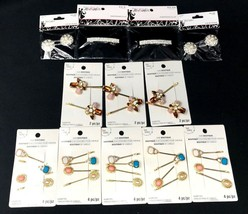 12 Hair Clips Pins Barrettes Faux Pearl Rhinestones Wholesale Resell NEW  - $31.49