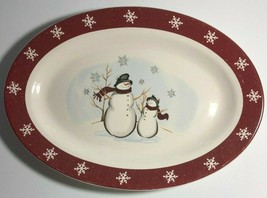 Royal Seasons Christmas Winter Snowman Holiday Platter - $18.04