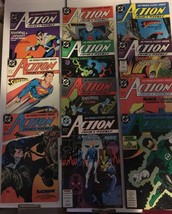 Action Comic #608 - 618 Superman DC Comic Book Lot VF Condition 1988 Nig... - $14.99