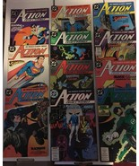 Action Comic #608 - 618 Superman DC Comic Book Lot VF Condition 1988 Nig... - $14.99
