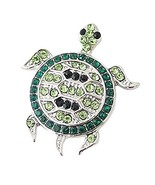 Lovmoment Snap Sea Turtle 20mm Snap Button with Rhinestones Snap Jewelry... - $5.71
