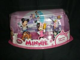 Disney Store Minnie Mouse 6 Piece Figurine Playset New Sealed W/T - $16.99