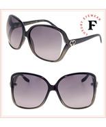 GUCCI 3500 Black Grey Translucent Oversized Heart Logo Sunglasses GG0506... - $306.90