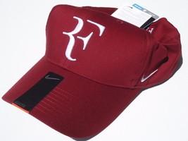 """New! Dark Red Nike Men-Women Roger Federer """"Rf"""" Tennis DRI-FIT Hat - $296.88"""