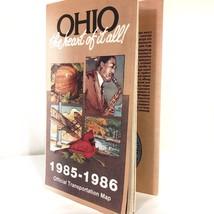 Ohio Road Map Highway 80s Vintage Travel Collectible Craft Supply Scrapb... - $9.99