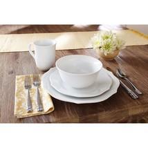 Better Homes & Gardens 16-Piece Scalloped Porcelain Dinnerware Set, White - $53.40
