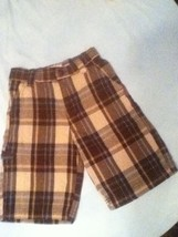 Boys - Size 7- Arizona - Brown multi-color plaid shorts - Good condition - $4.15