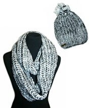 bebe 2 Piece Cold Weather Set - Hat and Infinity Loop Scarf, Color: White, Black - $32.99