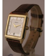 Seiko watches brown bracelet Gold tone case SKP304P1 - $123.96