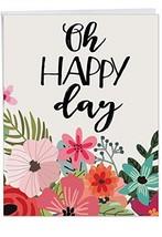 Pack of 3 Jumbo Birthday Greeting Card: Optimisms Featuring an Inspirati... - $22.69