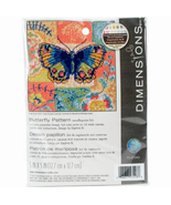 Dimensions Butterfly Pattern Mini Needlepoint Kit, very small 5x5, paste... - $12.99