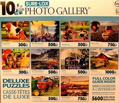 Sure-Lox Collection of 10 Deluxe Puzzles Of an Amazing Photo Art Gallery... - $48.88