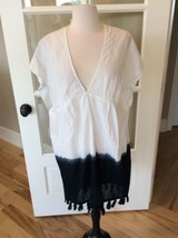 Old Navy Swimsuit Coverup Dress White Hombre Tie Dye Womens Small Cotton... - $19.79