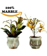 Succulent Pot Portable Round Marble Small Teracotta Succulent Pots - Ind... - $16.51