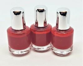 "Lot of 3 Mini Nail Polish Matte Red 1-3/4""H Portable Quick Shipping US Seller - $3.99"