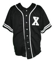 Malcolm X Baseball Jersey Button Down New Sewn Black Any Size - $39.99