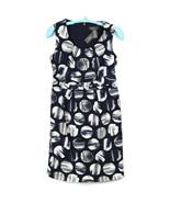 George By Mark Eisen Womens Dress Sheath Size 12 Sleeveless Navy Blue White - $19.75