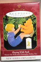 Hallmark - Playing With Pooh - Christopher Robin - 1999 Keepsake Ornament - $9.14