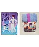 "NEW SEALED Star Wars Forces of Destiny 62x90"" Blanket Princess Leia R2D2 - $23.05"