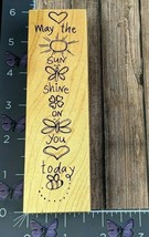 Great Impressions May The Sun Shine On You Today Rubber Stamp H137 Wood ... - $6.44
