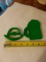 derby hat + Beer stein of 2 Green plastic cookie cutters - 1 Hallmark - $2.43