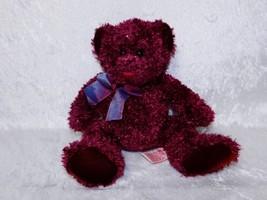 "Russ Berrie & Co Plush Teddy Bear Poppy 9.5"" Bear Burgundy 20856 - $31.88"