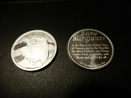 Two .999 Fine Silver Pledge of Allegiance Rounds Bullion - $70.00