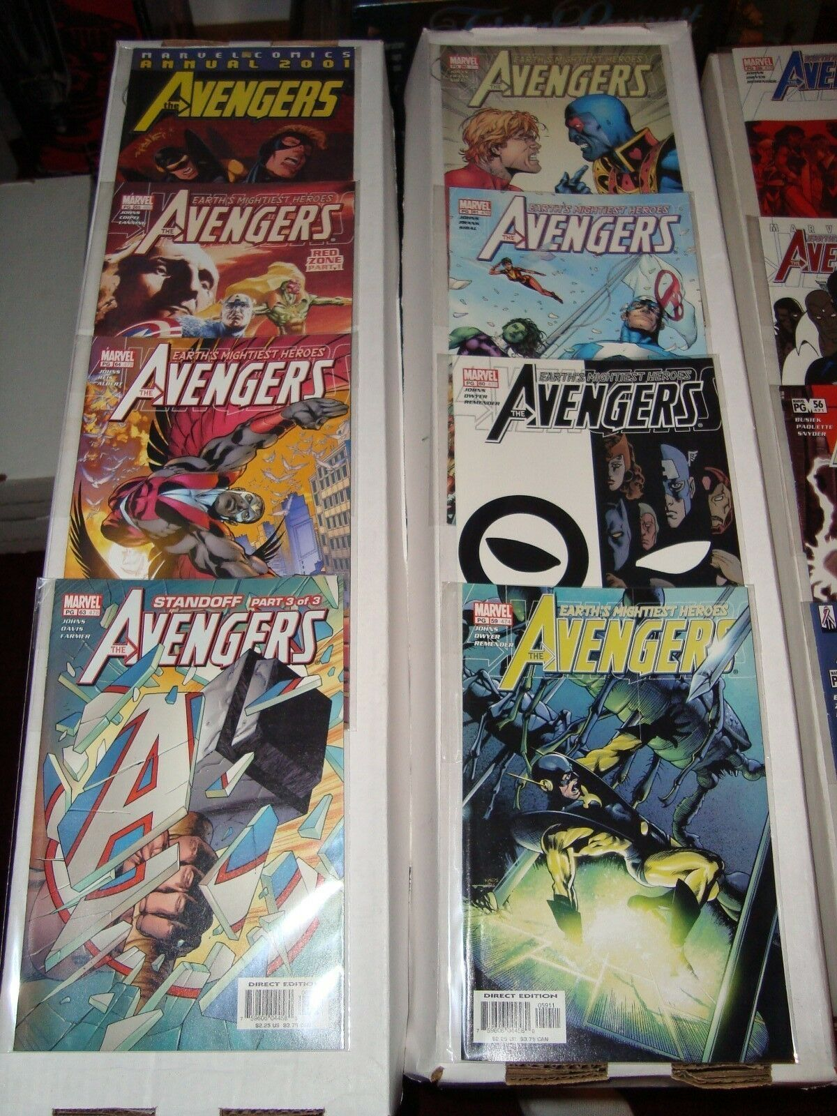 Avengers #456 - 480 + Annual Marvel Comic Book Run From 2001-03 NM Condition