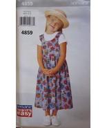Vintage Butterick Nähmuster 4859 Mädchen Its Easy Pulli 1-6 Uncut - $4.89