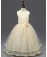 Cute Frist Communion Dress Scoop Flower Girls Dresses Floral Summer Part... - $28.55