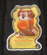 Wilton Playful PUPPY Cake Pan 1978 with Color Insert Vintage Korea 502-7636 - $9.70