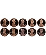 1990-1999 S Complete Set Lincoln Memorial Cent Gem Proof Run 10 Coin Set... - £14.33 GBP