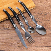 4pcs High Quality Laguiole Stainless Steel Steak Knife Set Tableware Din... - $35.90
