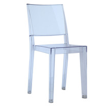 Fine Mod Imports Clear Square Side Chair, Clear - $118.00