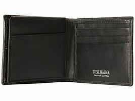 NEW STEVE MADDEN MEN'S PREMIUM LEATHER CREDIT CARD ID WALLET BLACK N80029/08 image 2