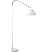Adesso 5420-20 Floor Lamps Shiny Copper and White Marble Metal Marble Willa - $170.00