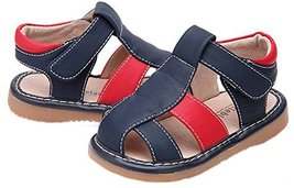 Toddler/Little Kids Boys Close Toe Casual Outdoor Sandal Dark Blue&Red