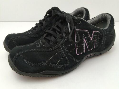 Merrell Womens US 6.5 Shoes Circuit Grid Comfort Black Suede Leather EU37 EUC