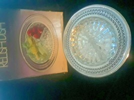 Vintage Relish Dish International Silver Glass Inset with Box - $23.36