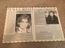 Paula Abdul teen magazine pinup clipping caught in the act Bop