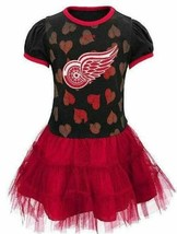 Girls Tutu Dress Reebok NHL Detroit Red Wings Hockey Red & Black, $45 sz... - $19.80