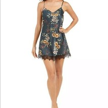 I.n.c. Lace-Trim Chemise Nightgown Forest Flowers Green Floral Size X-Large - $28.99