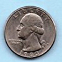 1983 D Washington Quarter - Circulated - Moderate Wear - $0.25
