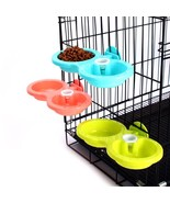 Nice Plastic DOUBLE Using Pet Feeder For Feeding And Drinking Non-toxic ... - $7.99
