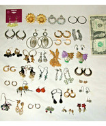 Mixed Lot of 36 Assorted Pierced Earrings Fashion Costume Jewelry Estate... - $35.40